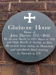 Photo of John Harvey grey plaque
