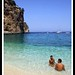 Naked couple in paradise