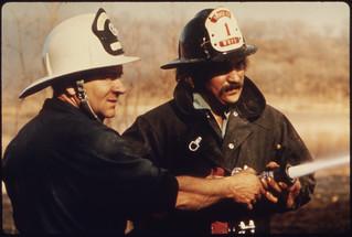 "Volunteer Fire Department Lieutenant Wallace ""Whitey"" Wolf ..., 10/1974"