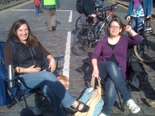 Leithers lap up the sun on car free day