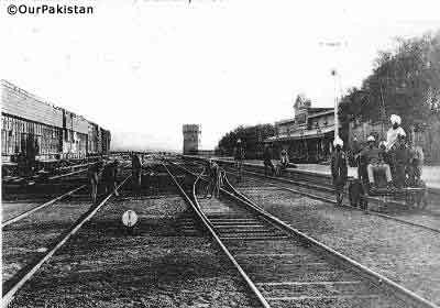 Railway station, Chaman, 1900