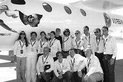 The Virgin Galactic team at the roll out of VMS Eve. Credit Claire Brown