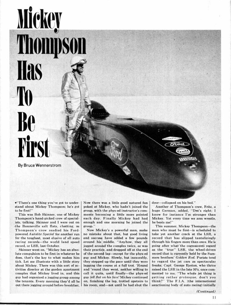 1969 Mickey Thompson LSR Car,page 1 | David Rider | Flickr