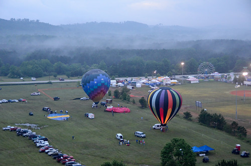carnival hot festival fog colorful air balloon foggymorning 2011 nwgeorgia menloga northwestgeorgiahotairballoonfestival tillotsonfield