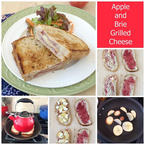 Apple and Brie Grilled Cheese via MealMakeoverMoms.com/kitchen