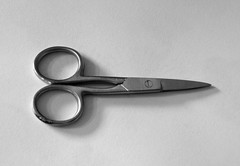 Scissors on paper