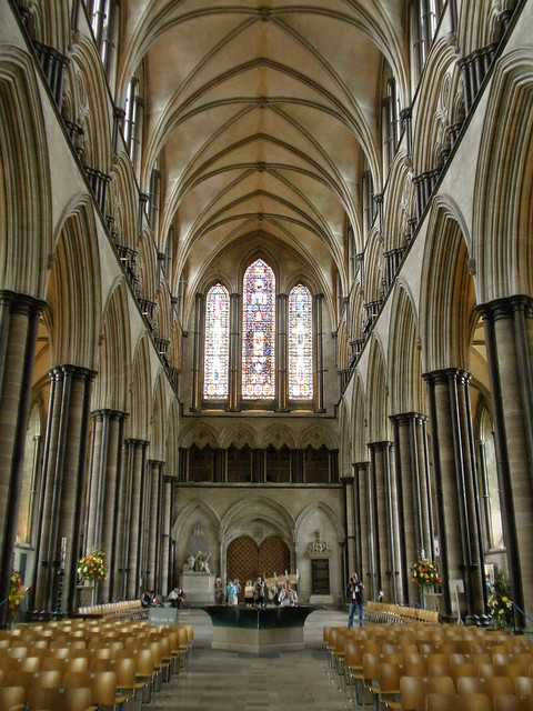 Salisbury Cathedral. Nave looking West. | The first ...
