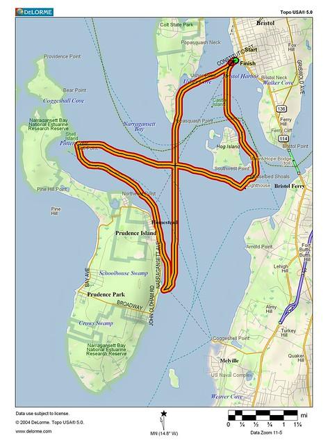 Map Of Prudence Island Ri