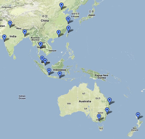 Possible Candidate Hosts For Drupalcon Asia Pacific Goog Flickr