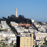 San Francisco - Telegraph Hill: Coit Tower from Russian Hill