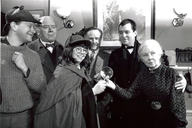 18 December 1987 - unknown, Freddie Jones, Jean Upton, Edwar