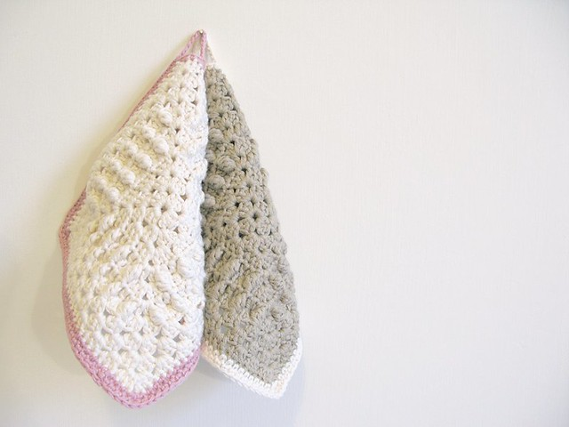 Daphne and Molly crochet dishcloths by Emma Lamb