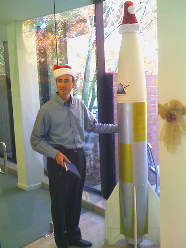 Jurvetson and his Santa Rocket