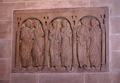 Basel, Basler Münster, Apostelrelief (Relief of the Apostles)