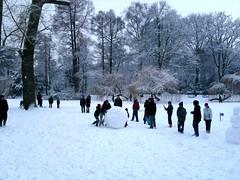 Snow katamari in Wilhelminapark