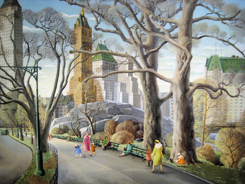 Central Park - 1934 New Deal Painting at Smithsonian American Art Museum