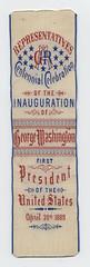 Washington Inaugural Centennial Ribbon, 1889