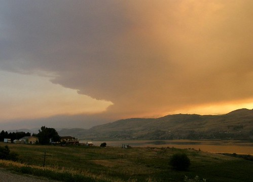 sunset lake swan terrace okanagan vernon fintry wildfire