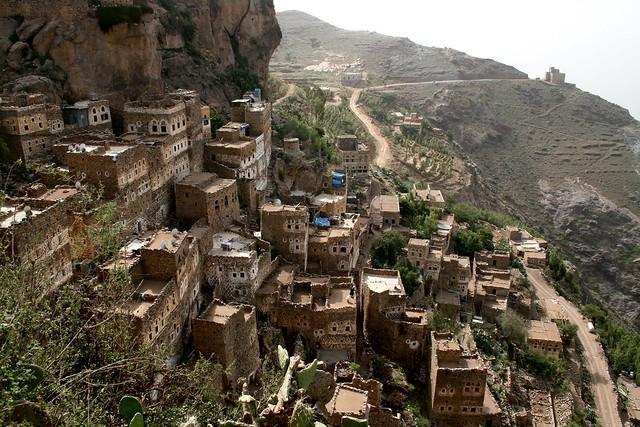 Hajjra. Las aldeas fortificadas de Jabal Haraz. Montañas Haraz. Yemen