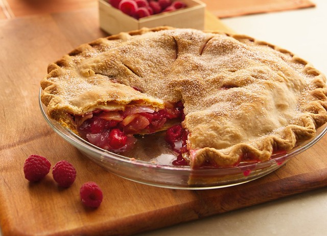 Apple-Raspberry Pie Recipe | Raspberries and grated orange p ...