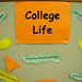 College Life Display (back display close-up)