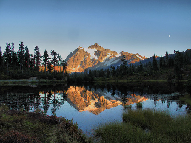 Mount Shuksan Evening Reflection