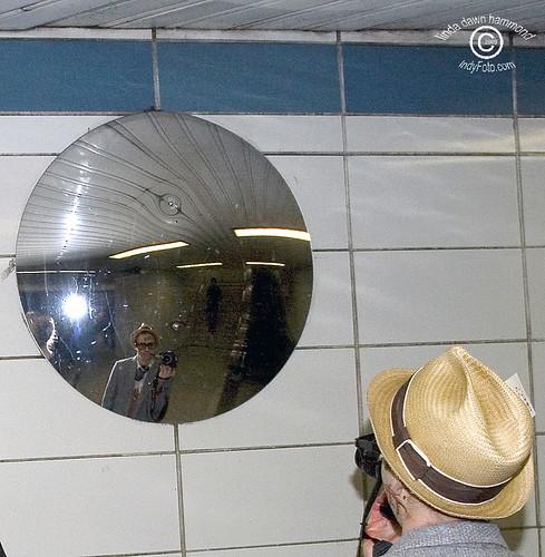 Zombie Press in Surveillance Mirror