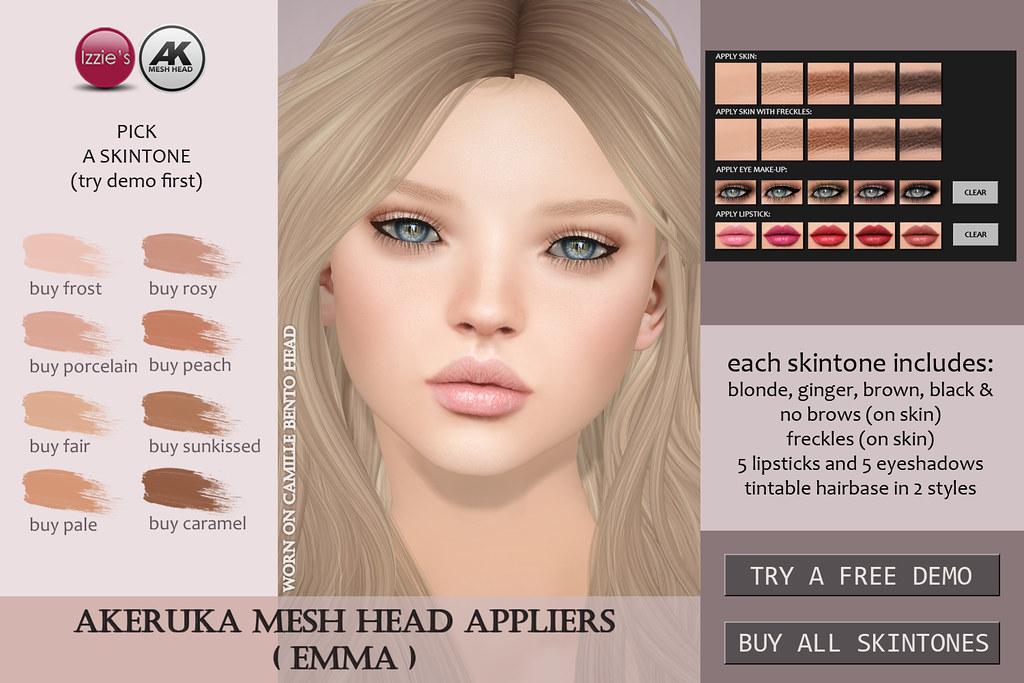 Emma Skin (for Akeruka Camille Bento) - SecondLifeHub.com