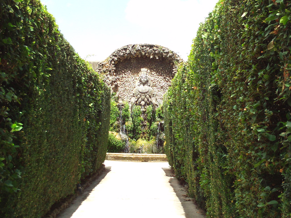 Through the hedges, the Grotto of Diana