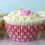 Gluten free Strawberry dolly mix cupcakes