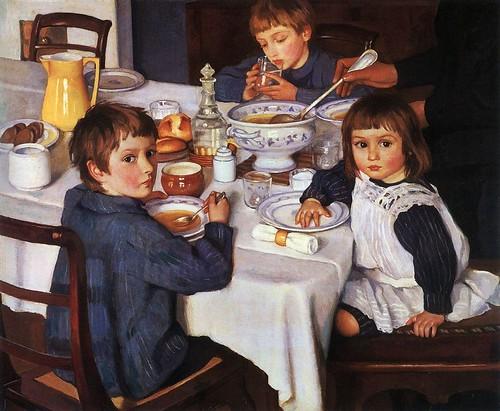 Serebryakova, Zinaida (1884-1967) - 1914 Lunch Time