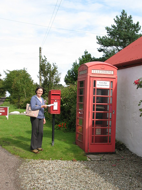 Another post  and telephone box
