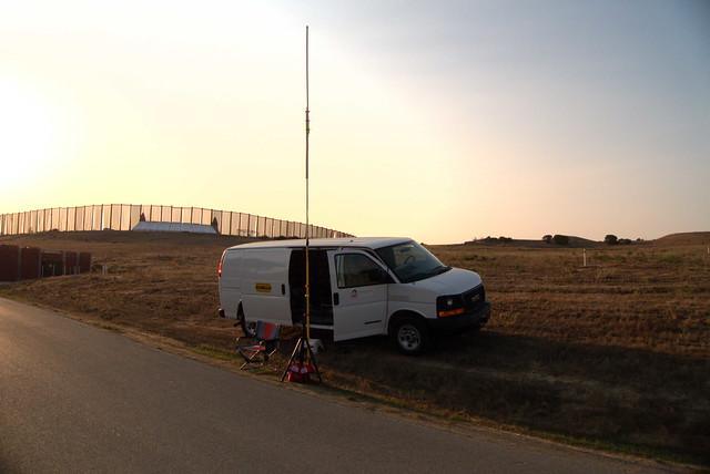 Ham radio at a trail run