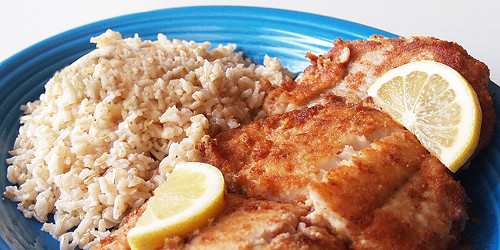 Gluten Free Fried Fish w/ Organic Coconut Flour & Coconut Oil