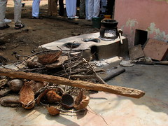 India - Sights & Culture - traditional rural cookstove