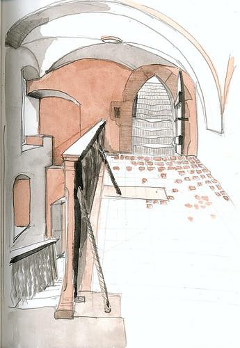 Möllenbeck Monastery, staircase