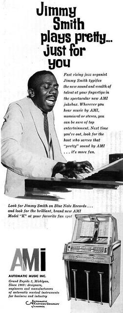 Jimmy Smith for AMI Jukebox Advertisement - Ebony Magazine, January, 1960