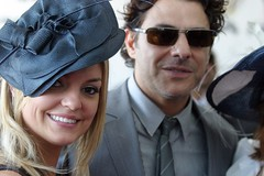 Sandra Sutton and Vince Colosimo at Myers Marquee - Derby Day 2009