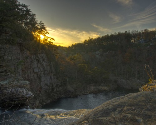 sunset nature waterfall alabama hdr desoto