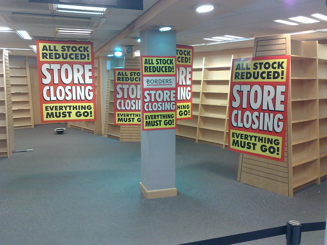 Borders Closing Sale Borders Bookshop Closing Down