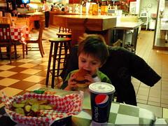his own hamburger   PC020190