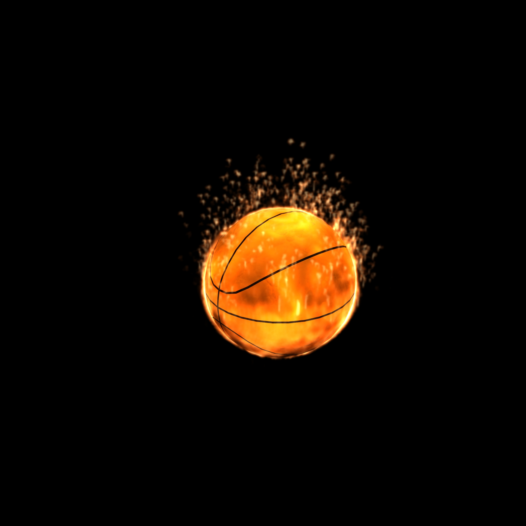 Basketball Ball On Fire Basketball on fire