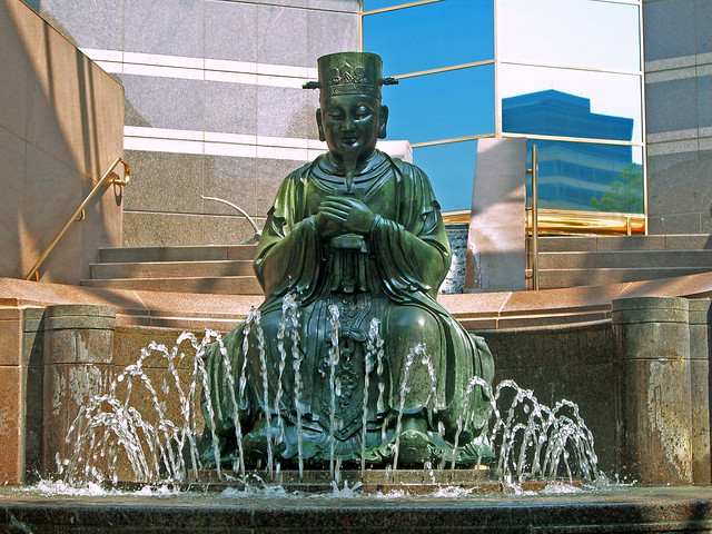 Dallas Auto Show >> Statue & Fountain, Crow Collection of Asian Art | The statue… | Flickr - Photo Sharing!