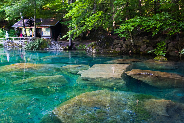 Blausee in switzerland
