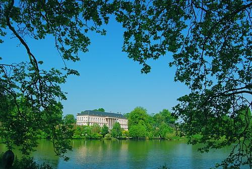 park castle pond nikon chateau parc paradisio etang cambron d40x