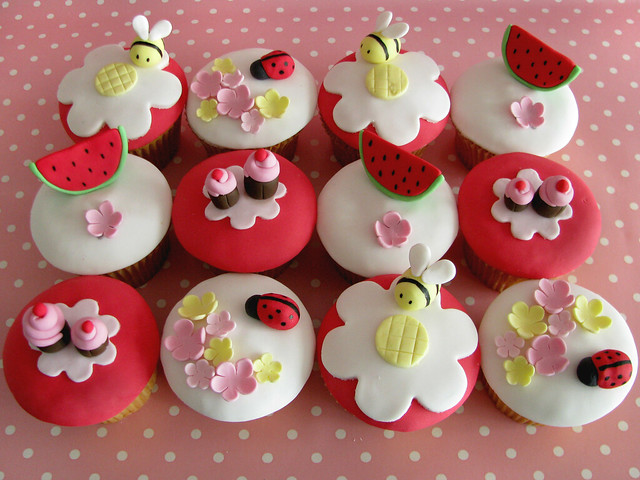 Teddy Bears Picnic Cupcakes Made For A Magazine Shoot