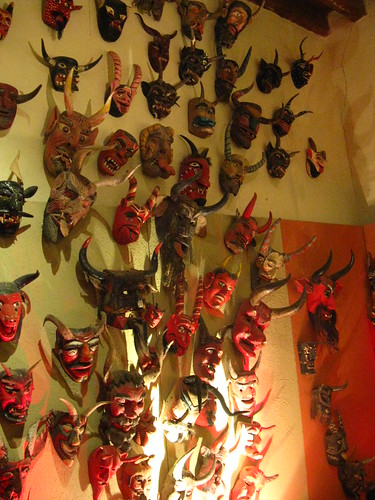 nmarritz' photo of devil masks in the Rafael Coronel museum.