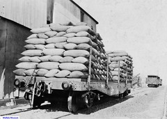 Rail Truck with Bagged Wheat