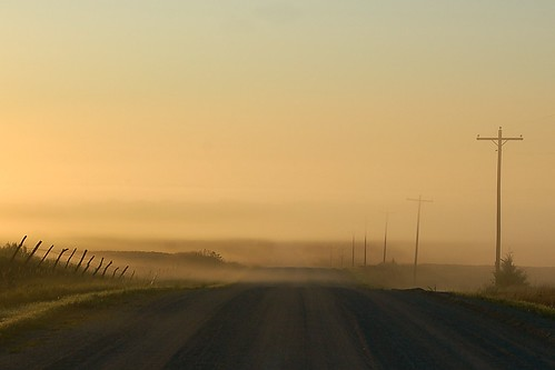 road fog rural nebraska gravelroad mattsteinhausen