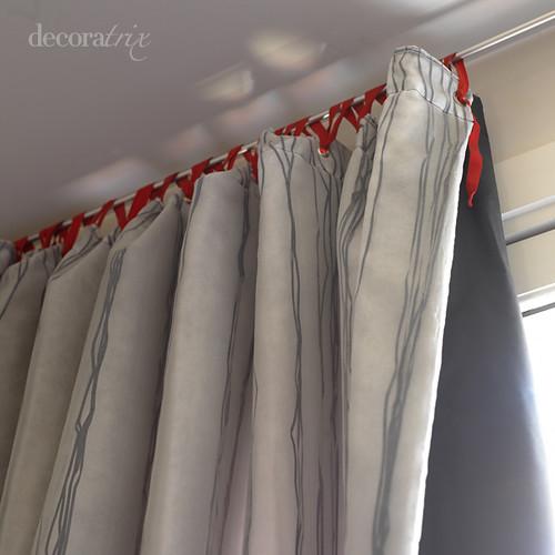 Colgar una cortina con cintas con la barra se pueden for Enganches para cortinas